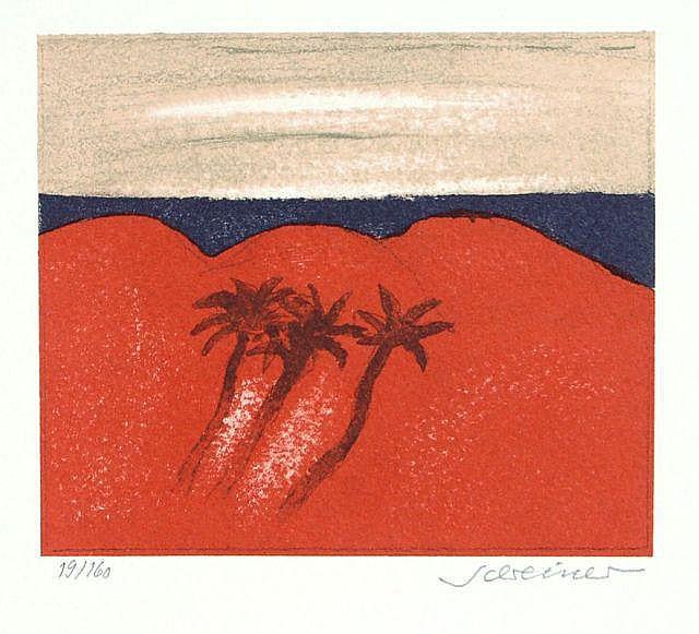 Hans Schreiner, Drei südliche Landschaften. No date.