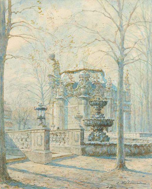 Ludwig Muhrmann, Wallpavillon im Zwinger. Early 20th cent.