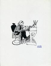 Hirschfeld, Al. (1903-2003): Two Signed Caricature Self-Portraits