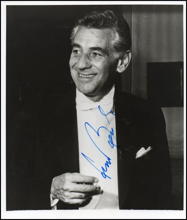 Bernstein, Leonard. (1918-1990): Signed Photograph.