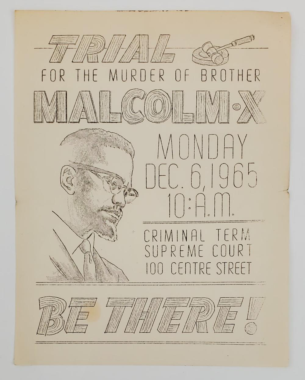 Broadside for Demonstration Following Death of Malcolm X