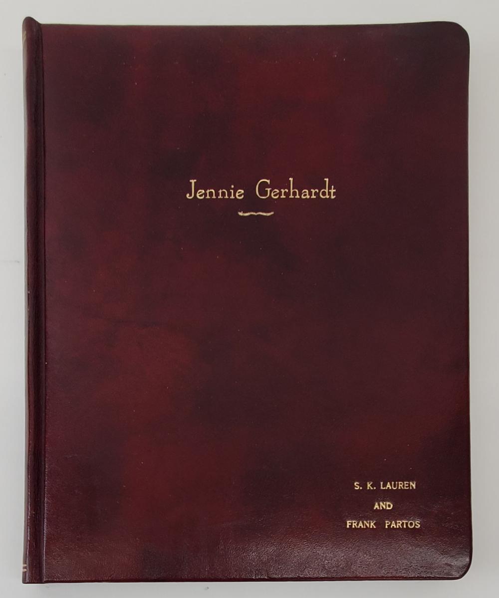 """Jennie Gerhardt"" | Script Presentation Copy (1933)"