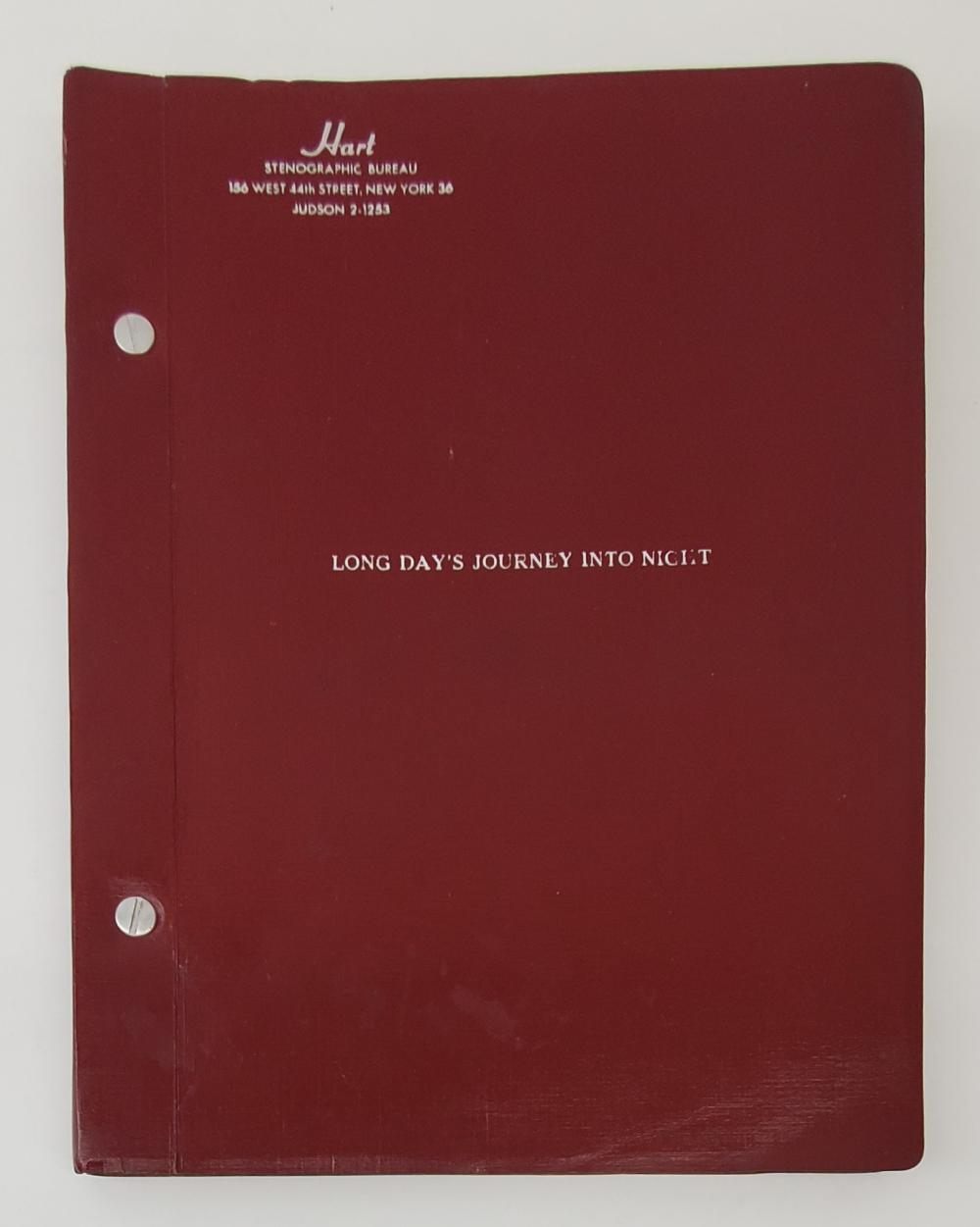 """Rare Working Script for """"Long Day's Journey Into Night"""""""