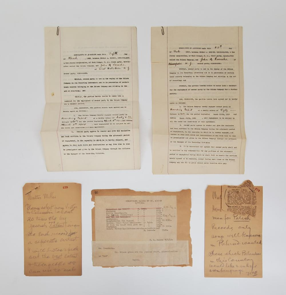 Thomas Edison | Two Signed Contracts and Six ALS