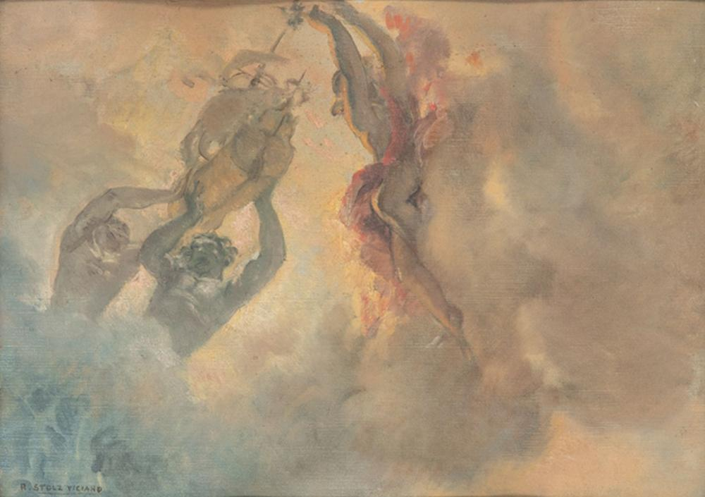 RAMÓN STOLZ VICIANO - Mythological theme ceiling sketch