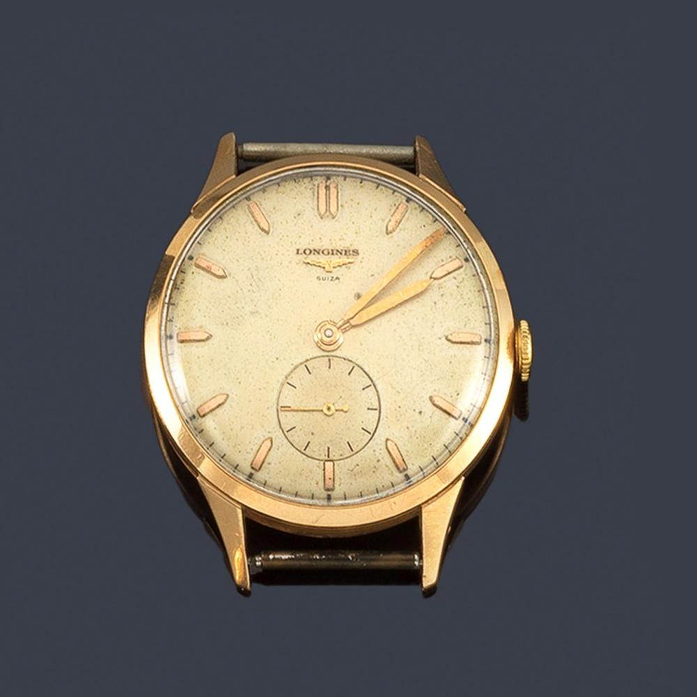 Men's LONGINES with 18K yellow gold case …