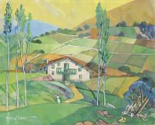 FILIX ARTETA ERRASTI - Basque farm house with landscape