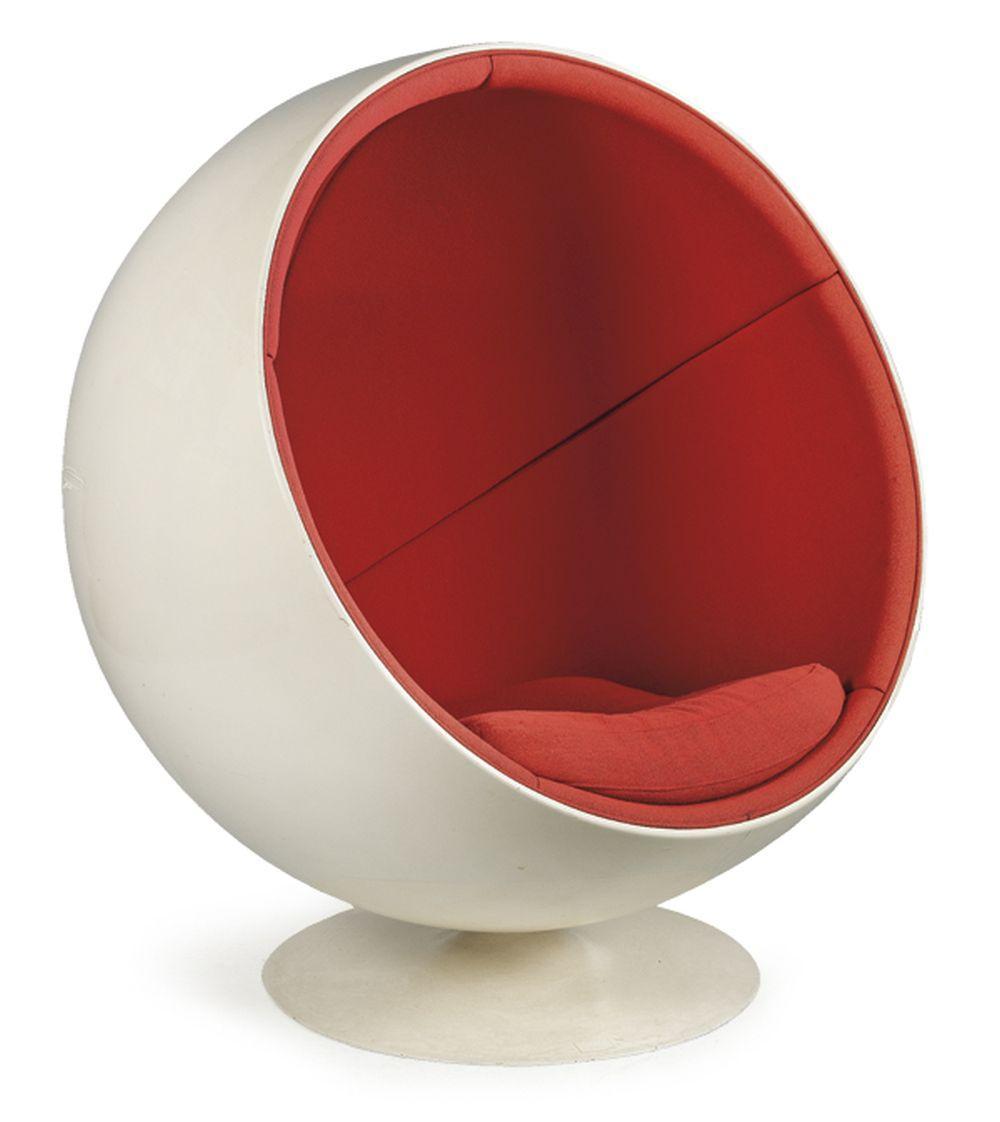 Eero Aarnio (1932) Ball Chair for Adelta White fib…