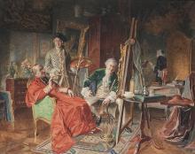 BERNARD LOUIS BORIONE - The portraitist and the cardinal