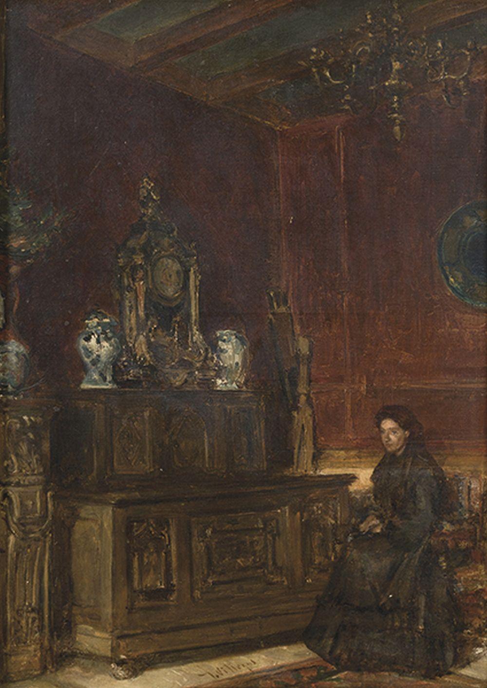 JOSÉ VILLEGAS CORDERO - Lady sitting in an interior