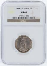 1888 NGC MS64 Great Britain 1 Shilling Silver Coin