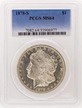1878-S PCGS MS64 Morgan Silver Dollar