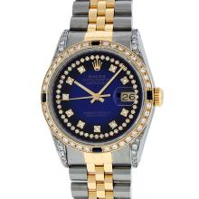Rolex Two-Tone 1.65 ctw Diamond and Sapphire DateJust Men's Watch