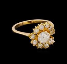 1.49 ctw Diamond Ring - 18KT Yellow Gold