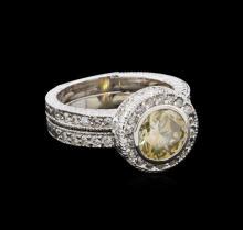 2.73 ctw Diamond Ring - 14KT White Gold
