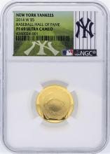 New York Yankees 2014-W NGC PF69 U.C. Commemorative Gold Coin