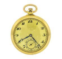 Antique Pocket Watch - 18KT Yellow Gold