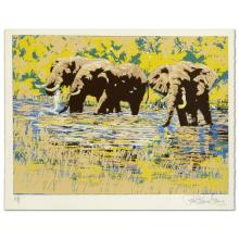 Elephant River by Henrie (1932-1999)