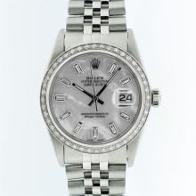 Rolex Stainless Steel MOP Diamond DateJust Men's Watch