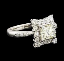 1.03 ctw Diamond and Diamond Ring - Platinum