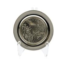 The Wittnauer Mint Sterling Silver Winter Holiday Plate 1973