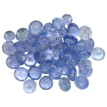 13.03 ctw Round Mixed Tanzanite Parcel