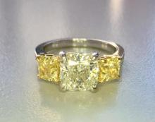 Diamond Ring - 18KT White and Yellow Gold