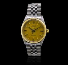 Rolex Stainless Steel Oyster Perpetual Men's Vintage Watch