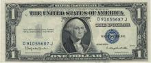 1935 Choice Uncirculated $1 Silver Certificate Currency