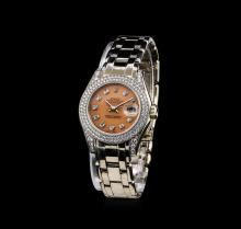 Rolex 18KT White Gold 1.44 ctw Diamond Masterpiece DateJust Ladies Watch