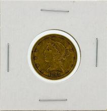 1899-S $5 VF Liberty Head Half Eagle Gold Coin