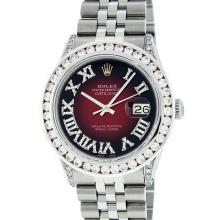 Rolex Stainless Steel 3.50 ctw Diamond DateJust Men's Watch