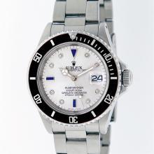 Rolex Stainless Steel Sapphire and Diamond Submariner Men's Watch