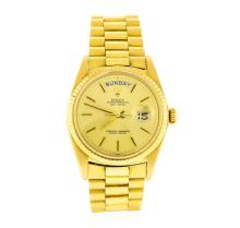 Rolex 18KT Gold President DayDate Men's Watch