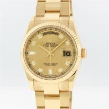Rolex 18K Gold President Diamond DayDate Men's Watch