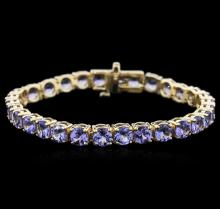 14KT Yellow Gold 17.40 ctw Tanzanite Bracelet