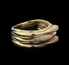 14KT Three-Tone Gold 0.27 ctw Diamond Ring