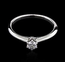 Tiffany & Co. 0.19 ctw Diamond Solitaire Ring - Platinum