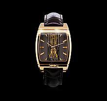 Corum 18KT Rose Gold Golden Bridge Automatique Watch