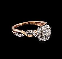 0.83 ctw Diamond Ring - 14KT Rose and White Gold