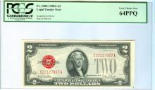 1928G PCGS VCN 64PPQ $2 Red Seal Legal Tender Bank Note