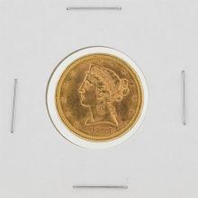 1881-S $5 BU Liberty Head Half Eagle Gold Coin