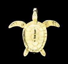 Turtle Pendant - 14KT Yellow Gold