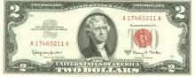 1963-A $2 Choice Circulated Red Seal Note