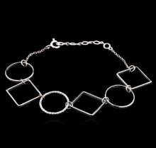 0.18 ctw Diamond Bracelet - 14KT White Gold