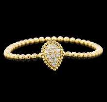 0.62 ctw Diamond Bracelet - 14KT Yellow Gold