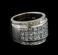4.35 ctw Diamond Ring - 14KT White Gold