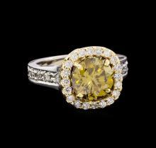 3.43 ctw Diamond Ring - 14KT White Gold