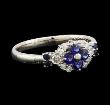 0.50 ctw Sapphire and Diamond Ring - Platinum