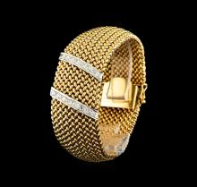 Omega 14KT Yellow Gold Diamond Case Cover Ladies Watch